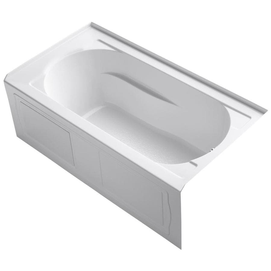 KOHLER Devonshire 60-in White Acrylic Alcove Bathtub with Right-Hand Drain