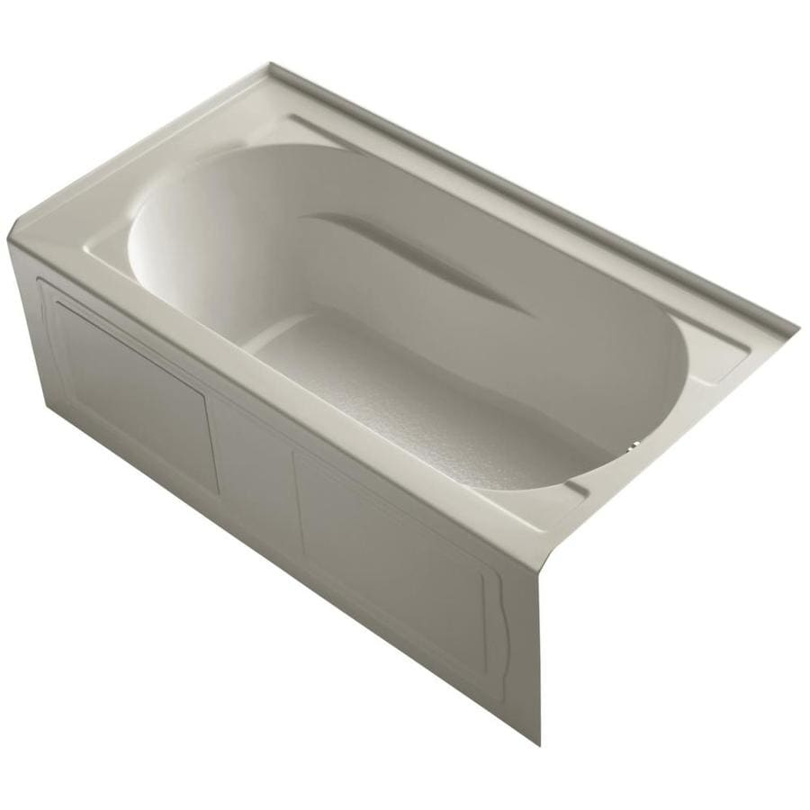 KOHLER Devonshire 60-in Sandbar Acrylic Alcove Bathtub with Right-Hand Drain
