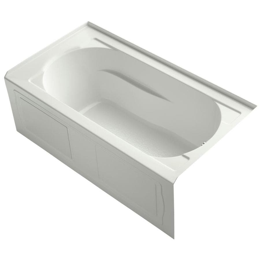 KOHLER Devonshire Dune Acrylic Oval In Rectangle Skirted Bathtub with Right-Hand Drain (Common: 32-in x 60-in; Actual: 20-in x 32-in x 60-in)