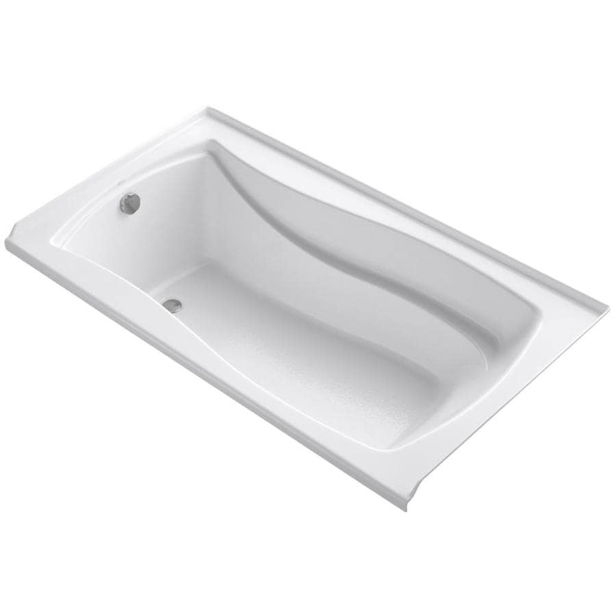 KOHLER Mariposa 66-in White Acrylic Alcove Bathtub with Left-Hand Drain