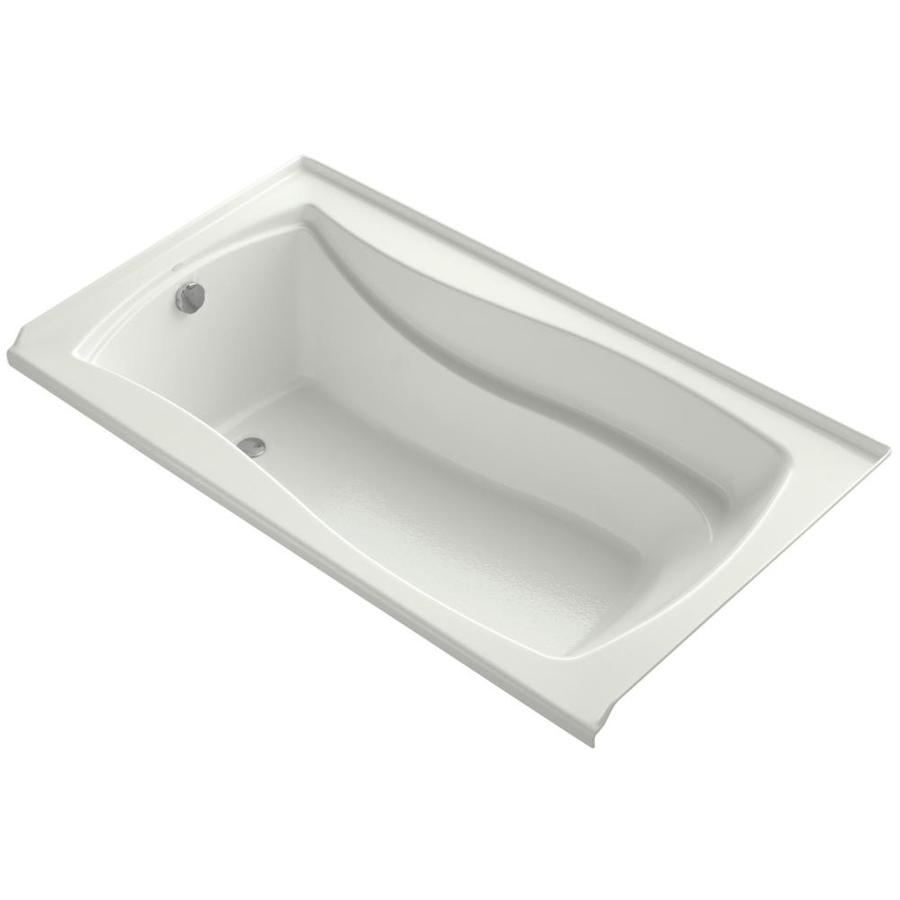 KOHLER Mariposa Dune Acrylic Rectangular Alcove Bathtub with Left-Hand Drain (Common: 36-in x 66-in; Actual: 21.25-in x 35.875-in x 66-in)