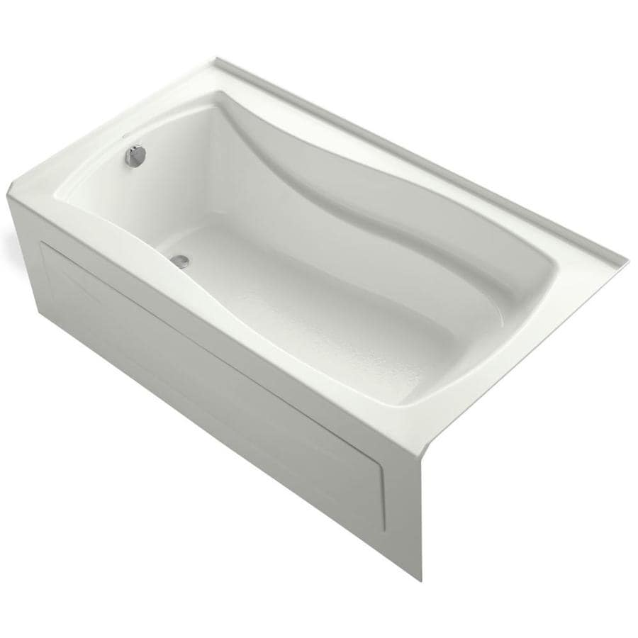 KOHLER Mariposa Dune Acrylic Rectangular Alcove Bathtub with Left-Hand Drain (Common: 36-in x 66-in; Actual: 21.25-in x 36-in x 66-in)