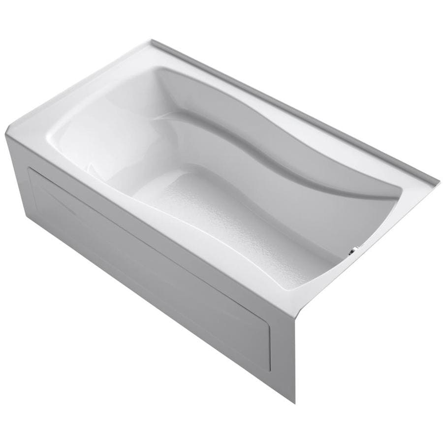 KOHLER Mariposa 66-in White Acrylic Alcove Bathtub with Right-Hand Drain