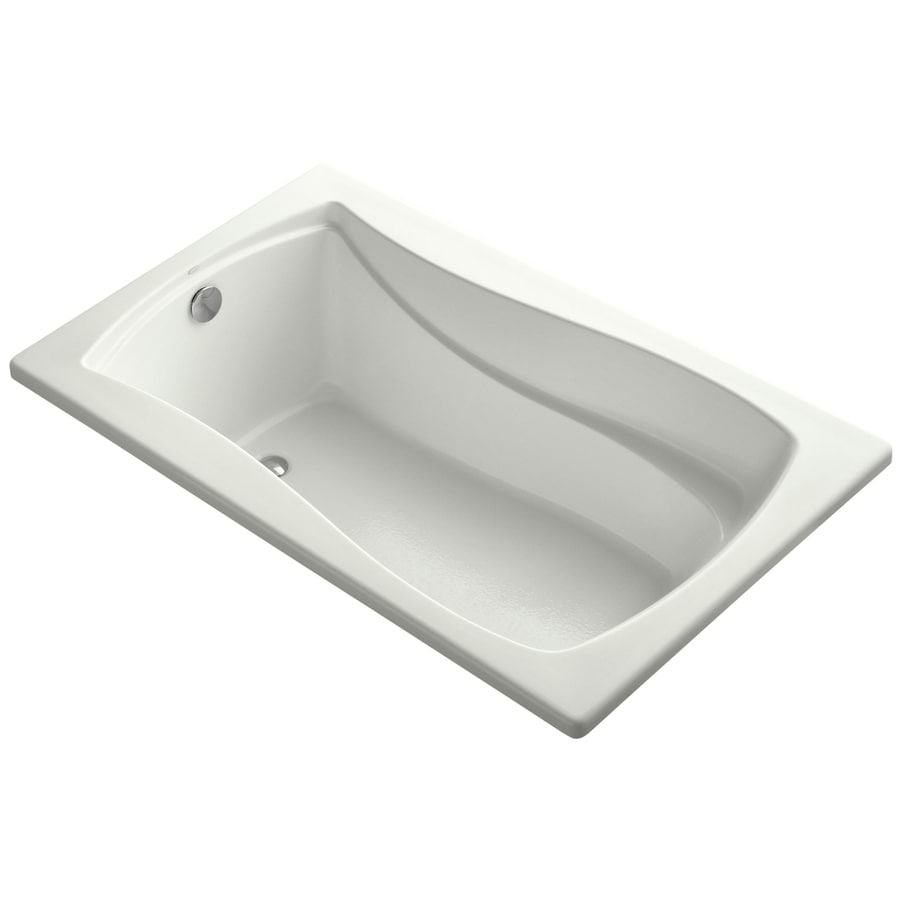 KOHLER Mariposa 60-in Dune Acrylic Drop-In Bathtub with Reversible Drain