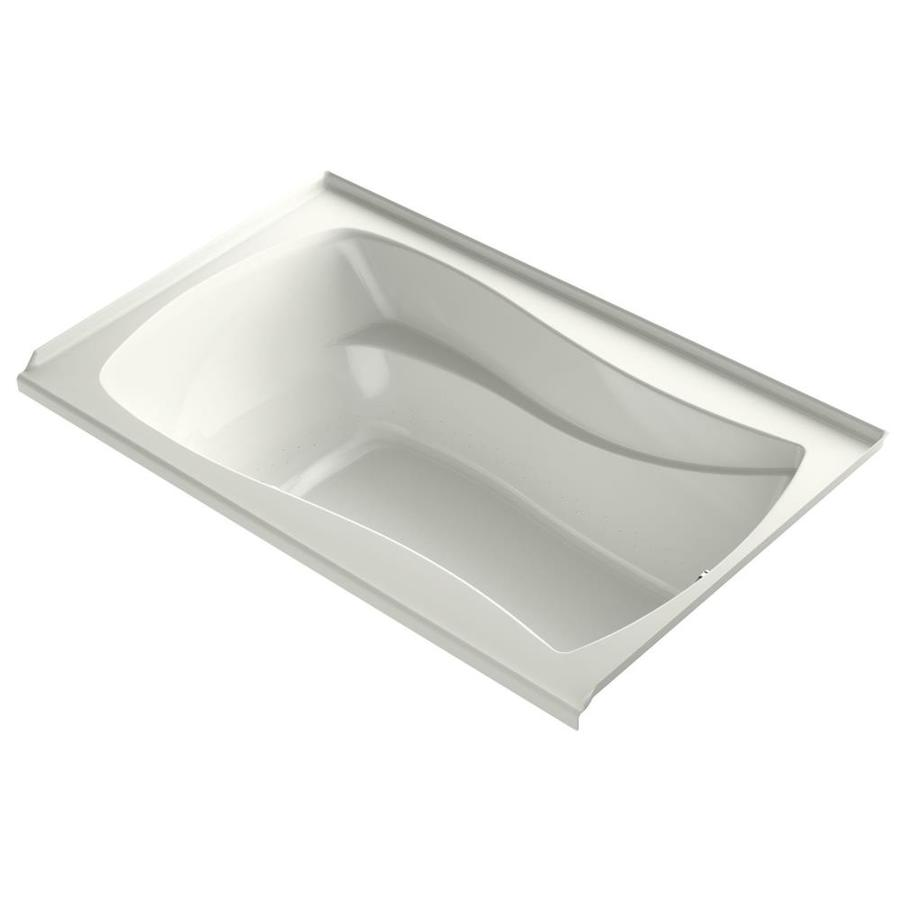 KOHLER Mariposa 60-in Dune Acrylic Alcove Bathtub with Right-Hand Drain