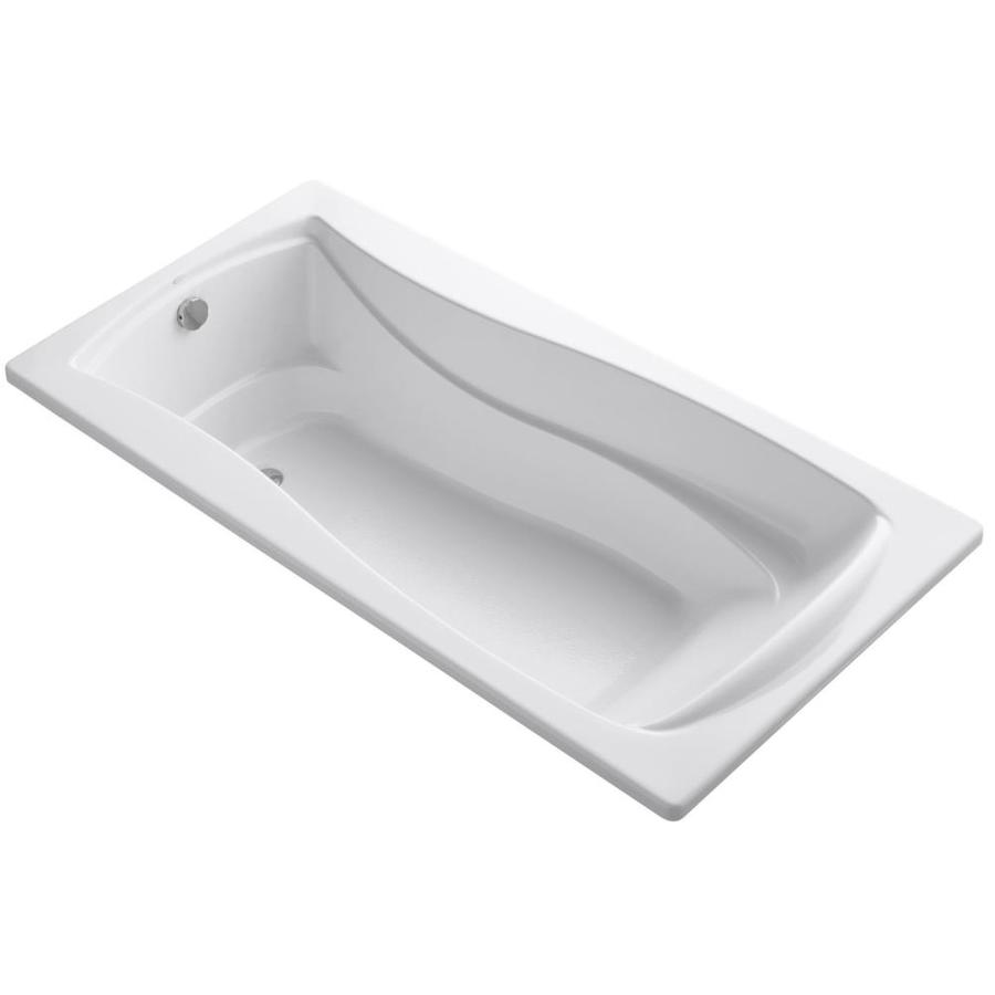 KOHLER Mariposa 72-in White Acrylic Drop-In Bathtub with Reversible Drain