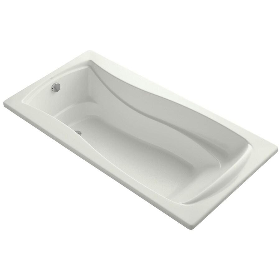 KOHLER Mariposa 72-in Dune Acrylic Drop-In Bathtub with Reversible Drain