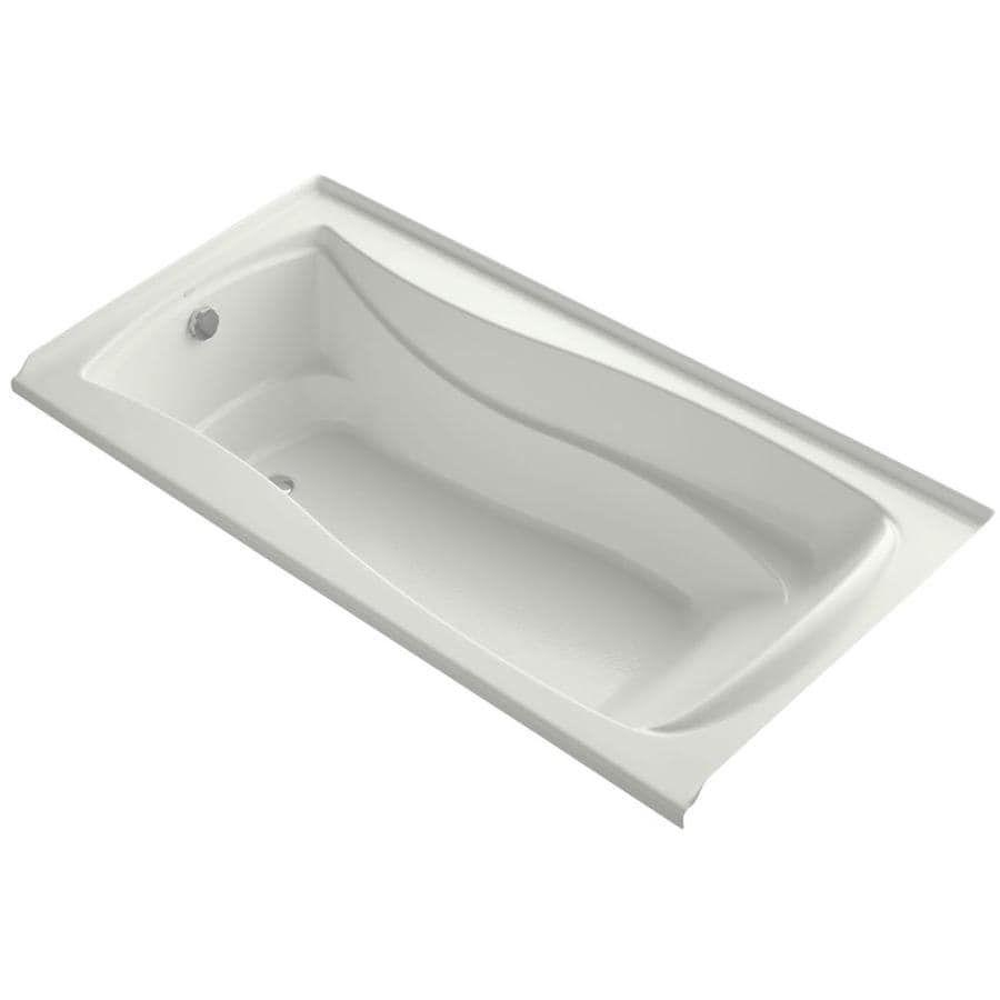 KOHLER Mariposa Dune Acrylic Hourglass In Rectangle Alcove Bathtub with Left-Hand Drain (Common: 36-in x 72-in; Actual: 21.25-in x 36-in x 72-in)