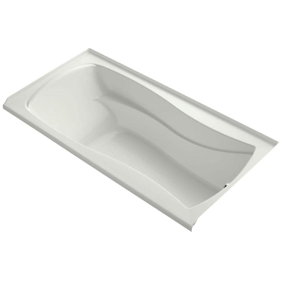 KOHLER Mariposa 72-in Dune Acrylic Alcove Bathtub with Right-Hand Drain