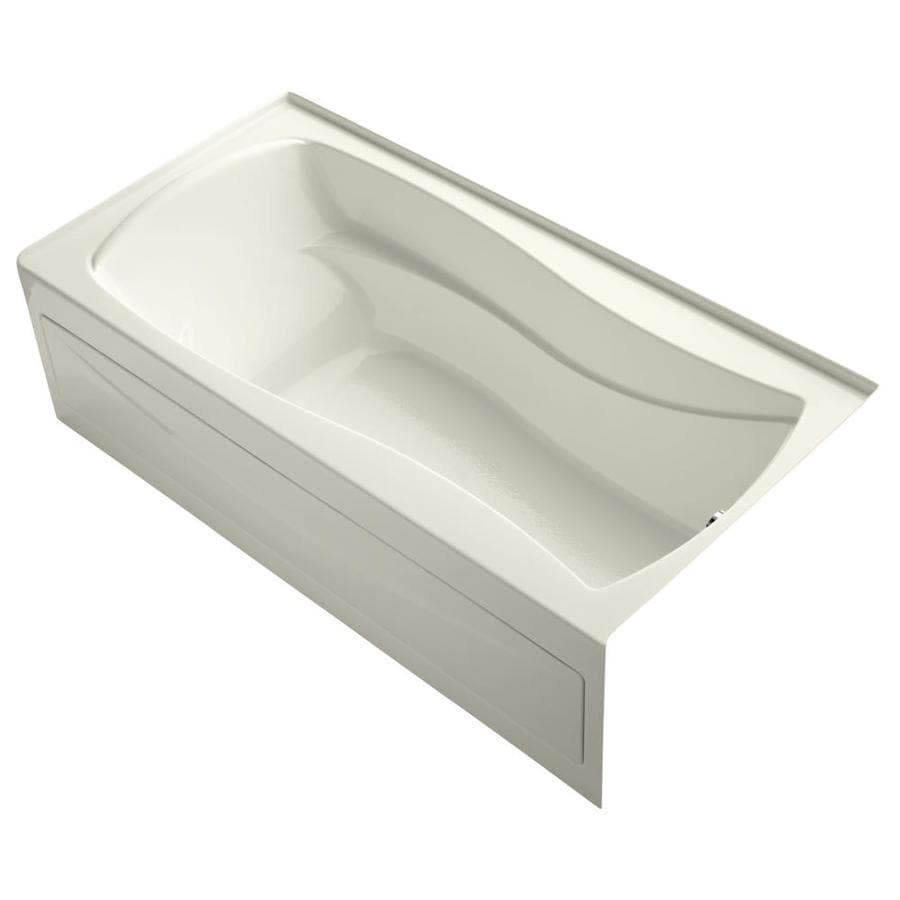 KOHLER Mariposa 72-in Biscuit Acrylic Alcove Bathtub with Right-Hand Drain