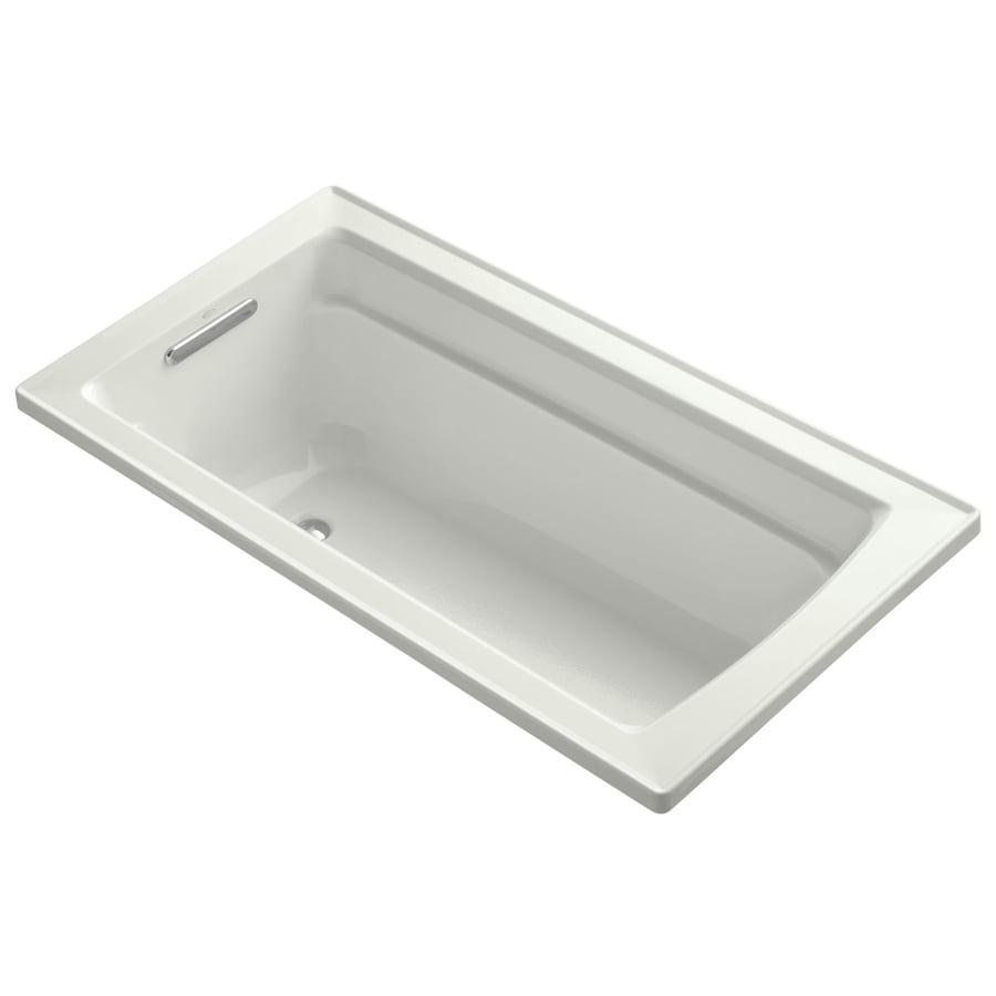 KOHLER Archer 60-in Dune Acrylic Drop-In Bathtub with Reversible Drain