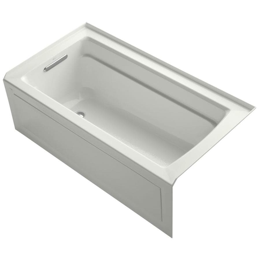KOHLER Archer Dune Acrylic Rectangular Alcove Bathtub with Left-Hand Drain (Common: 32-in x 60-in; Actual: 20.25-in x 32-in x 60-in)