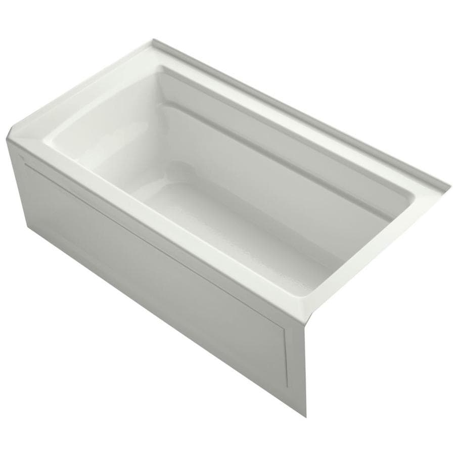 KOHLER Archer 60-in Dune Acrylic Alcove Bathtub with Right-Hand Drain