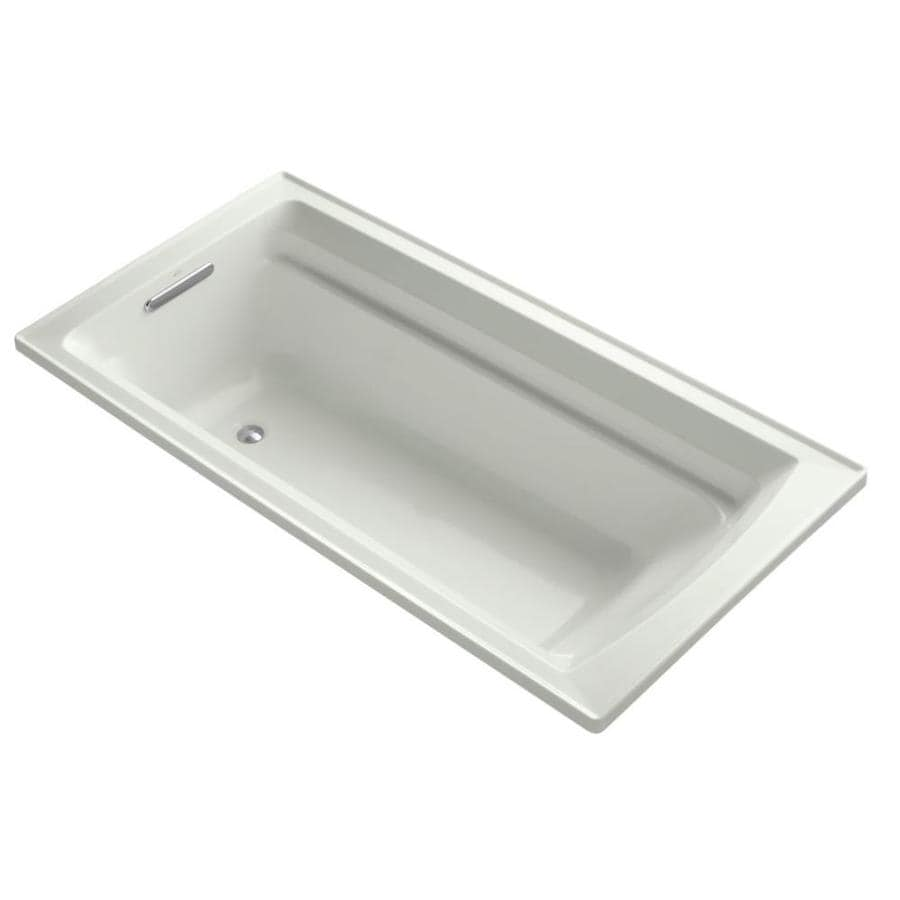 KOHLER Archer 72-in Dune Acrylic Drop-In Bathtub with Reversible Drain