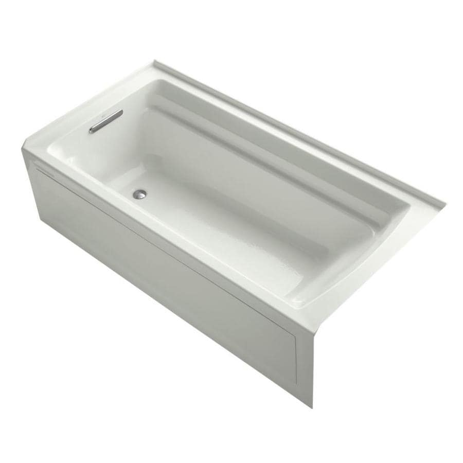 KOHLER Archer Dune Acrylic Rectangular Alcove Bathtub with Reversible Drain (Common: 36-in x 72-in; Actual: 20.25-in x 36-in x 72-in)