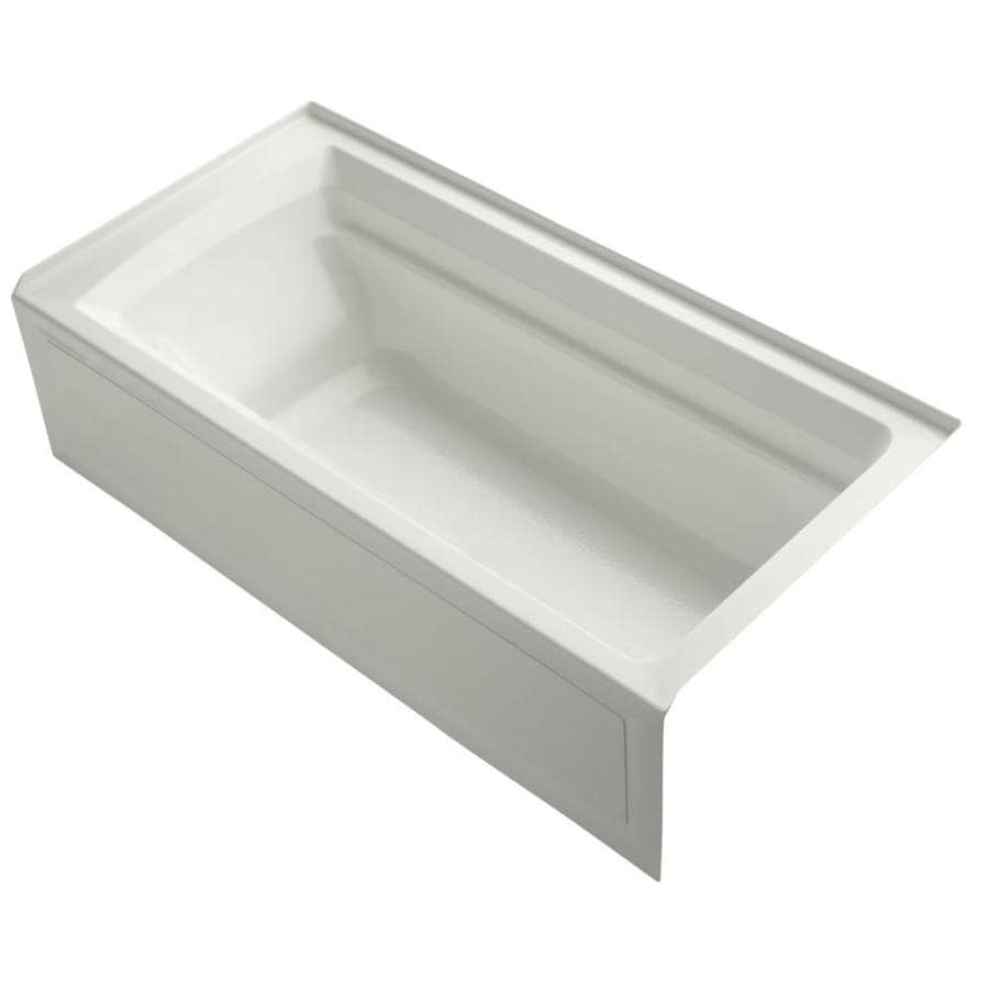 KOHLER Archer 72-in Dune Acrylic Alcove Bathtub with Reversible Drain