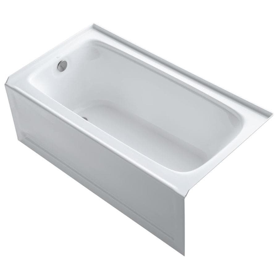 KOHLER Bancroft White Acrylic Rectangular Alcove Bathtub with Left-Hand Drain (Common: 32-in x 60-in; Actual: 20.25-in x 32-in x 60-in)