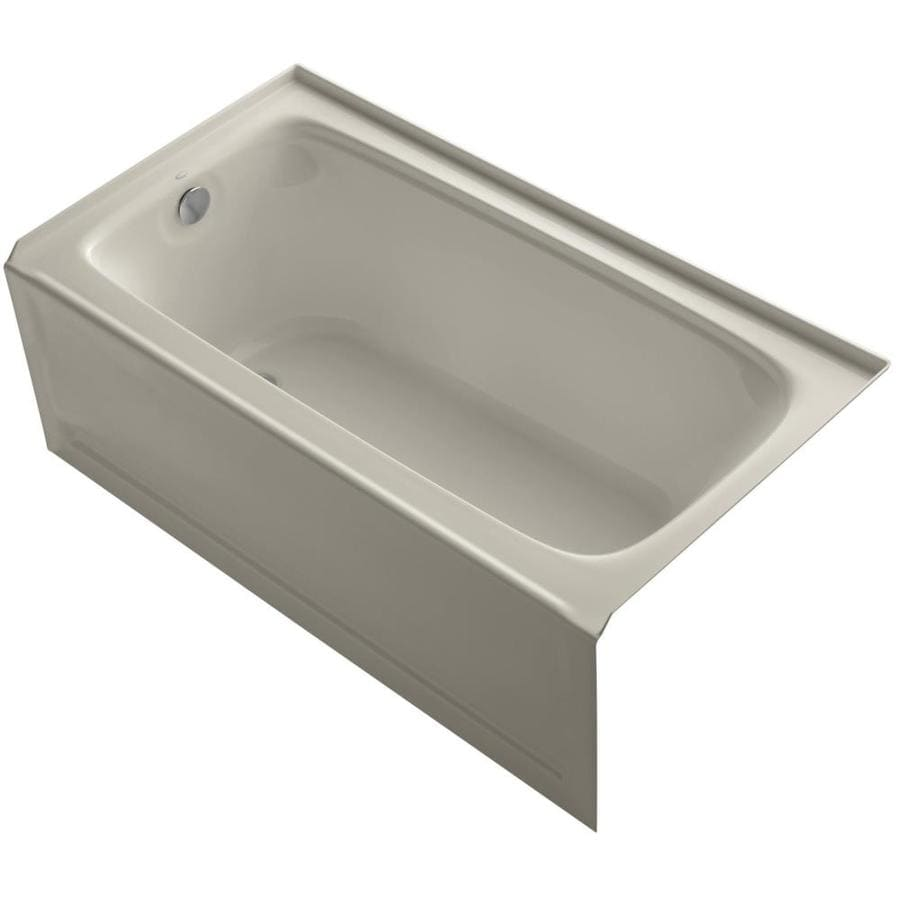 KOHLER Bancroft Sandbar Acrylic Rectangular Alcove Bathtub with Left-Hand Drain (Common: 32-in x 60-in; Actual: 20.25-in x 32-in x 60-in)