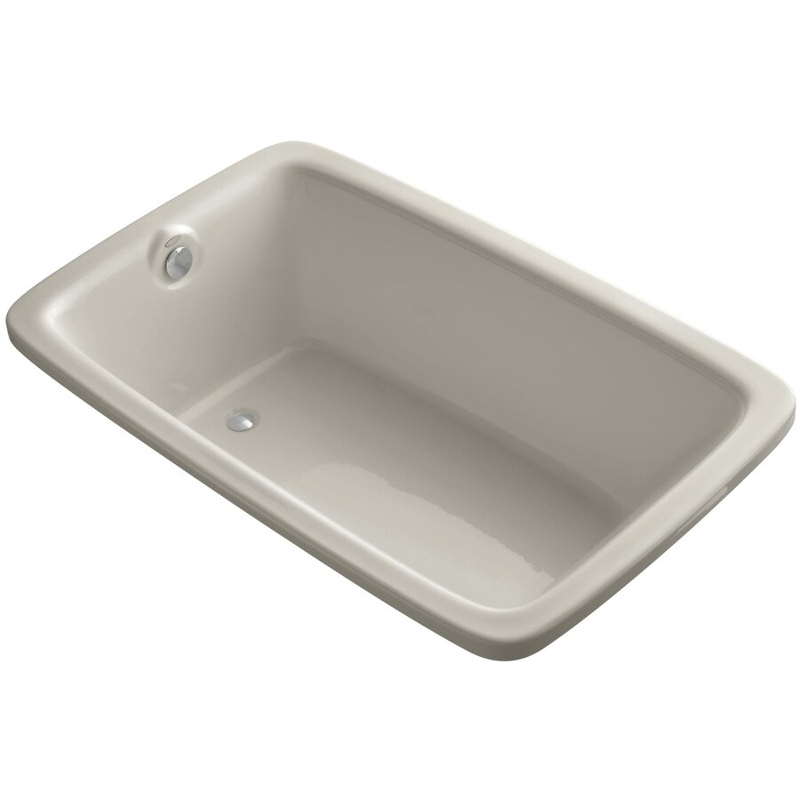 KOHLER Bancroft Sandbar Acrylic Rectangular Drop-in Bathtub with Reversible Drain (Common: 42-in x 66-in; Actual: 22.0000-in x 42.0000-in x 66.0000-in)