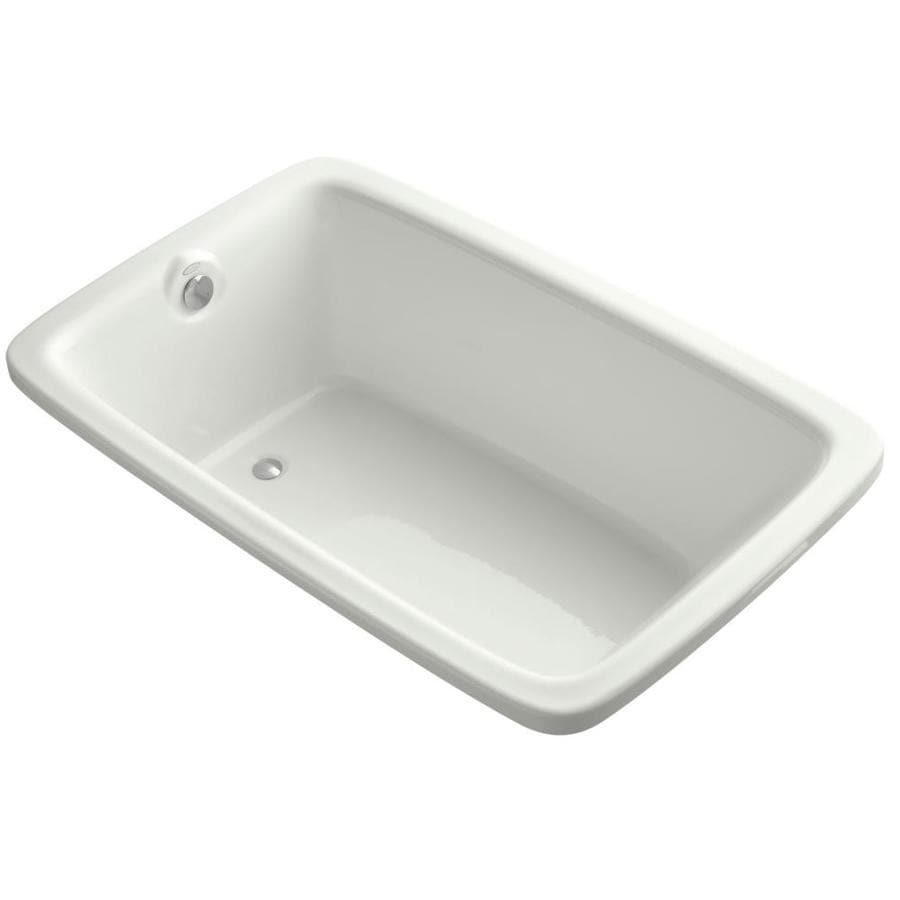 KOHLER Bancroft Dune Acrylic Rectangular Drop-in Bathtub with Reversible Drain (Common: 42-in x 66-in; Actual: 22-in x 42-in x 66-in)