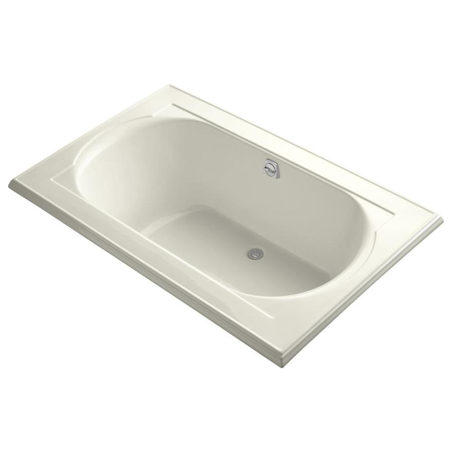 KOHLER Memoirs 66-in Biscuit Acrylic Drop-In Bathtub with Reversible Drain