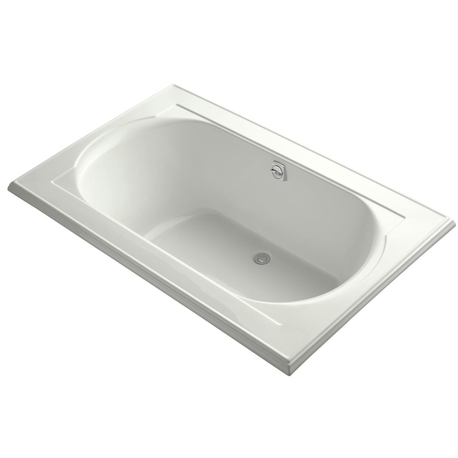 KOHLER Memoirs Dune Acrylic Oval In Rectangle Drop-in Bathtub with Reversible Drain (Common: 42-in x 66-in; Actual: 22-in x 42-in x 66-in)