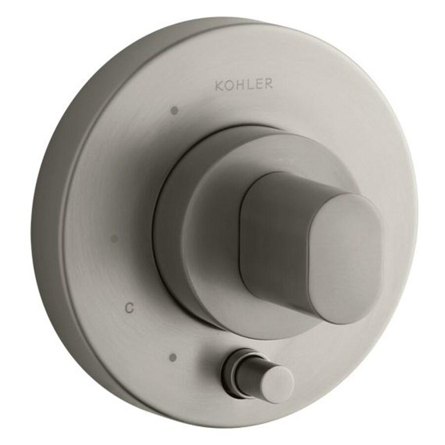 KOHLER Oblo Vibrant Brushed Nickel 1-Handle Bathtub and Shower Faucet Trim Kit