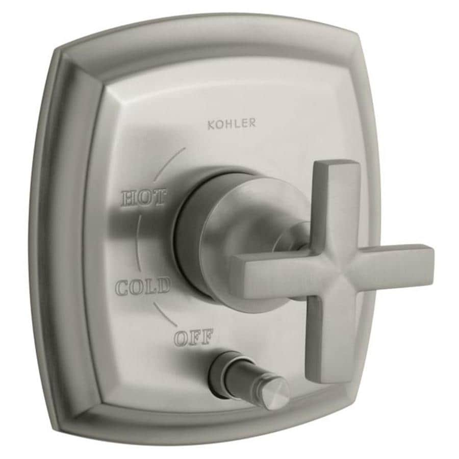 KOHLER Brushed Nickel Cross Shower Handle
