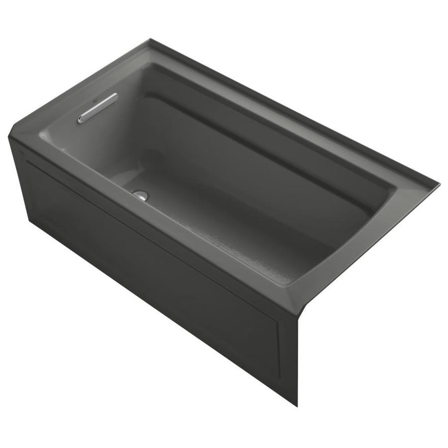 KOHLER Archer 60-in L x 32-in W x 20.25-in H Thunder Grey Acrylic Rectangular Alcove Air Bath