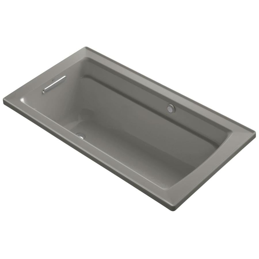 KOHLER Archer 72-in L x 32-in W x 20.5-in H Cashmere Acrylic Rectangular Alcove Air Bath
