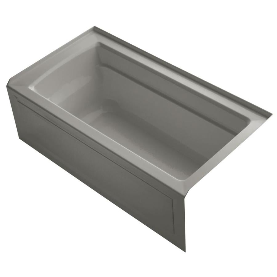 KOHLER Archer Cashmere Acrylic Rectangular Alcove Bathtub with Right-Hand Drain (Common: 32-in x 60-in; Actual: 20.25-in x 32-in x 60-in)