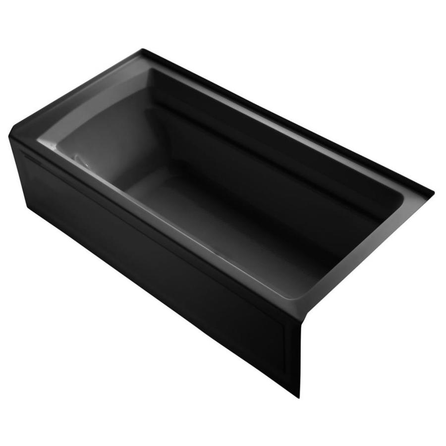 shop kohler archer 72 in black black acrylic alcove