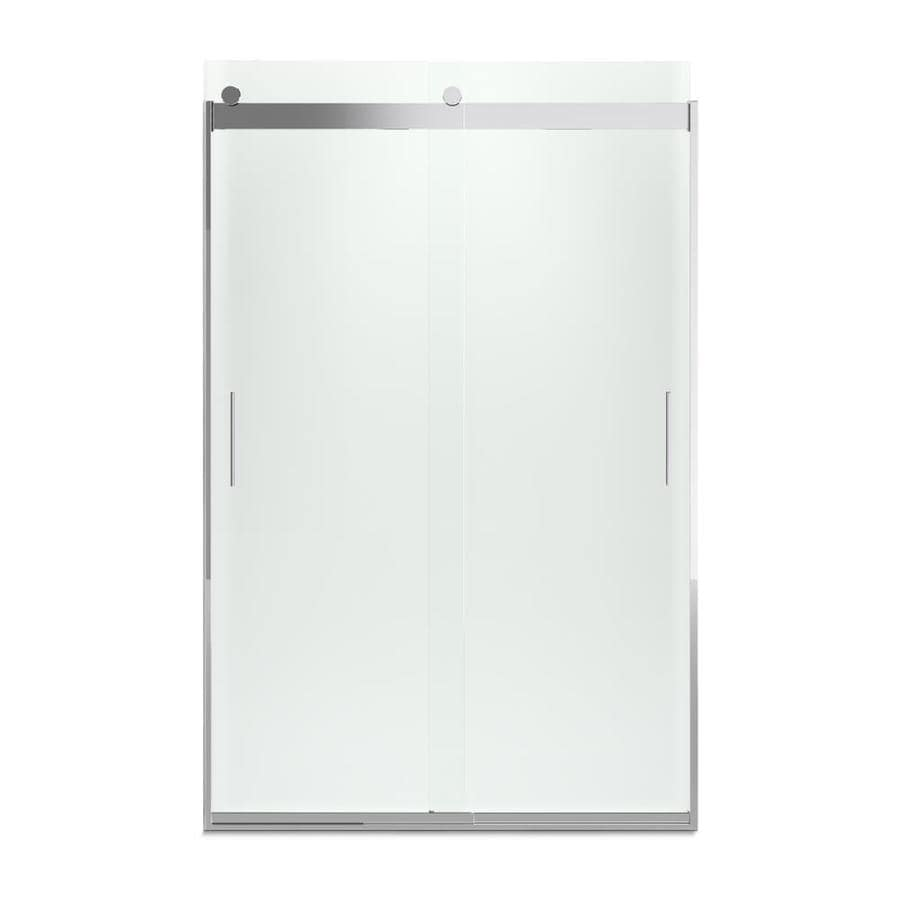 KOHLER Levity 44-in to 47-in W x 74-in H Bright Silver Sliding Shower Door