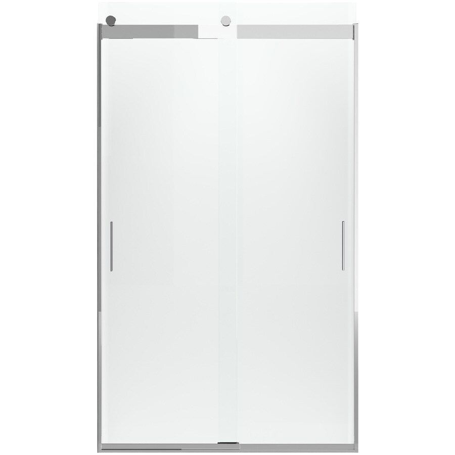 KOHLER Levity 44-in to 47-in W x 82-in H Bright Polished Silver Sliding Shower Door