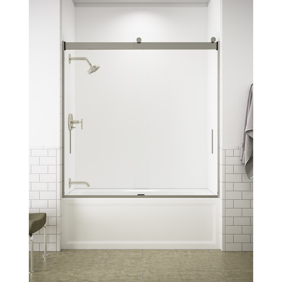 Shop Kohler Levity 59625 In W X 62 In H Frameless Bathtub Door At