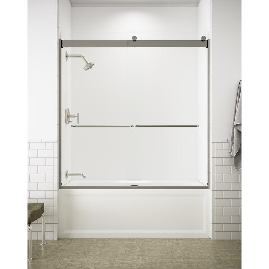 KOHLER Levity 59.625-in W x 62-in H Frameless Bathtub Door