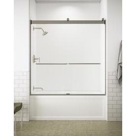 KOHLER Levity 59.625 In W X 62 In H Matte Nickel Bathtub Door