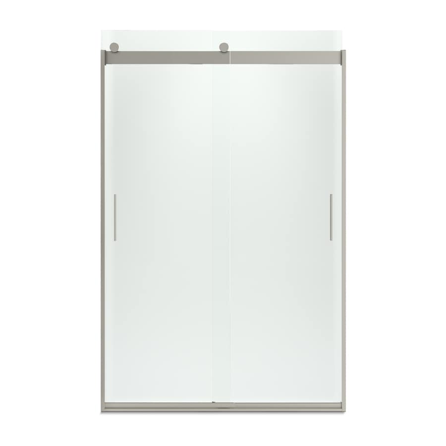 KOHLER Levity 44-in to 47-in Frameless Matte Nickel Sliding Shower Door
