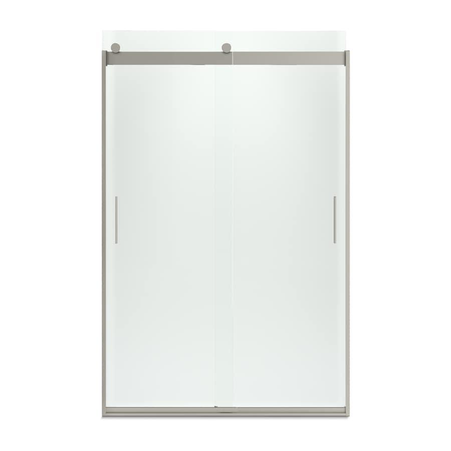 KOHLER Levity 44-in to 47-in W x 74-in H Matte Nickel Sliding Shower Door