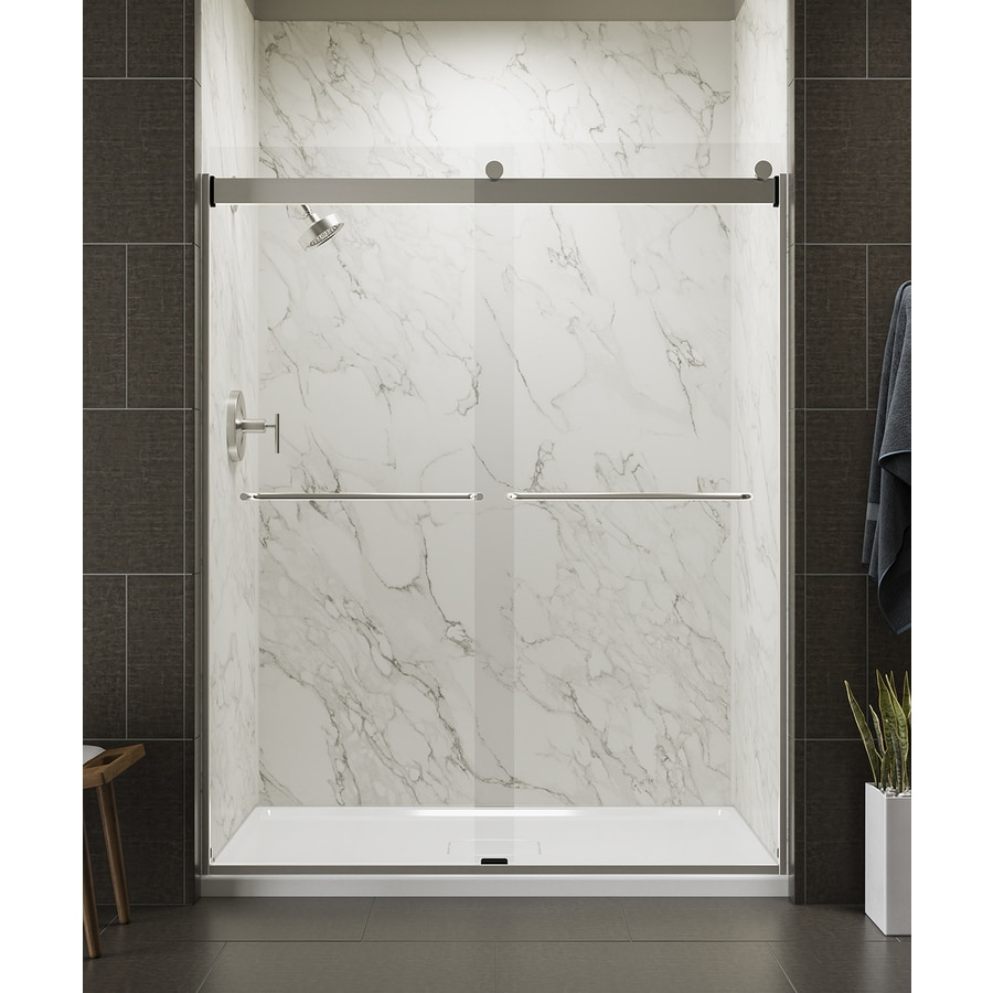 Shop Kohler Levity 56 625 In To 59 625 In Frameless Matte