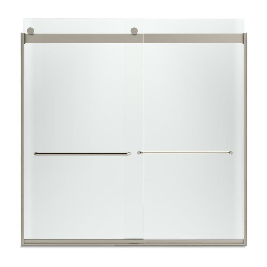 KOHLER Levity 57-in W x 59.75-in H Brushed Bronze Frameless Bathtub Door