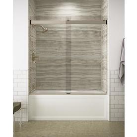 Kohler K-706006-L-ABV Sliding Bath Door Towel Bars 1/4u0022 Glass Bronze