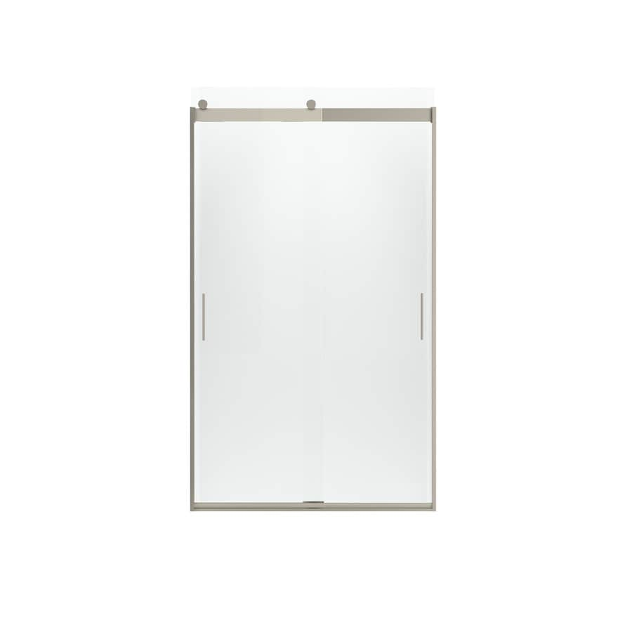 KOHLER Levity 44-in to 47-in W x 82-in H Brushed Bronze Sliding Shower Door