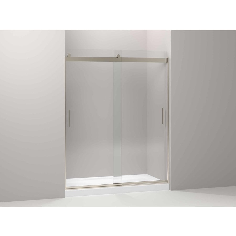 KOHLER Levity 44-in to 59.625-in Frameless Anodized Brushed Bronze Sliding Shower Door