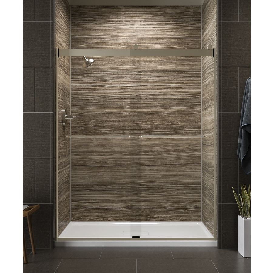 KOHLER Levity 56-in to 59-in W x 74-in H Brushed Bronze Sliding Shower Door