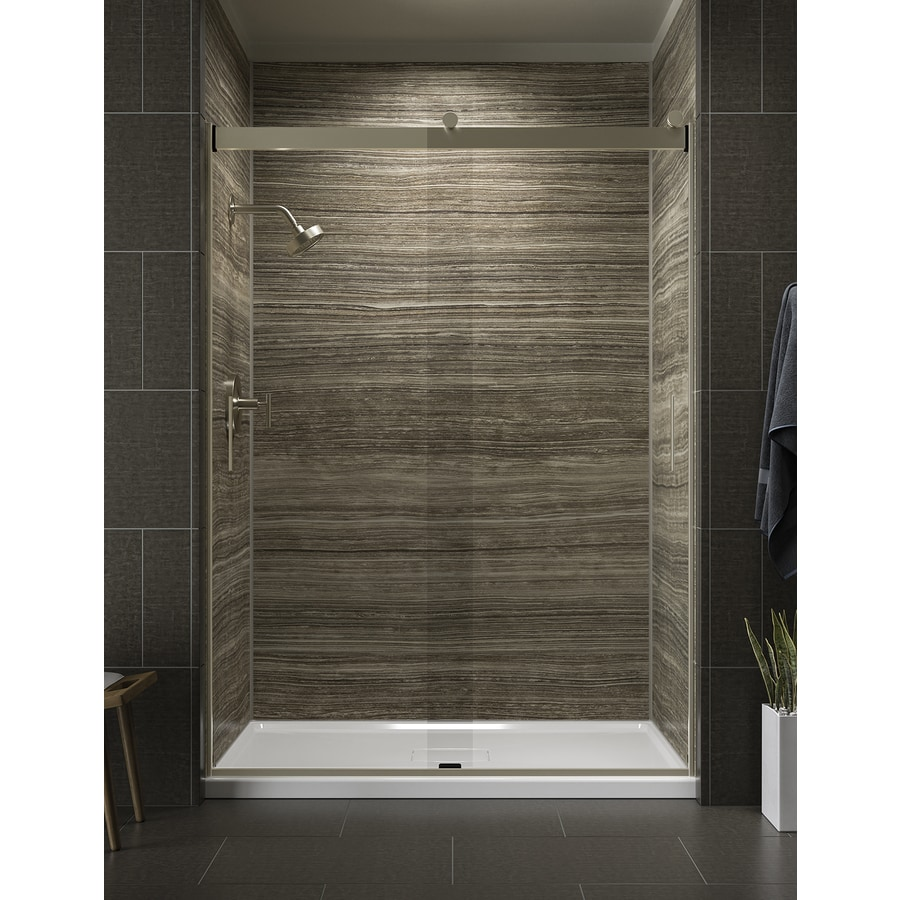 KOHLER Levity 56-in to 59-in W x 82-in H Brushed Bronze Sliding Shower Door