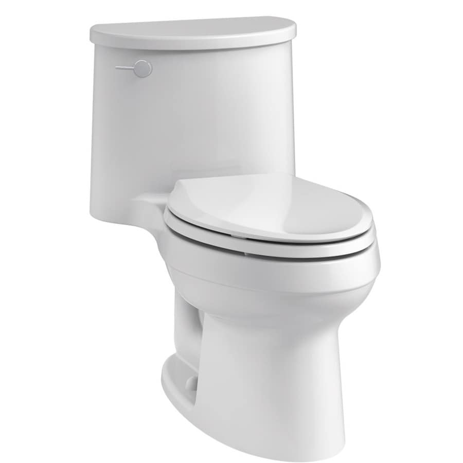 KOHLER Adair 1.28 White WaterSense Elongated Chair Height 1-Piece Toilet