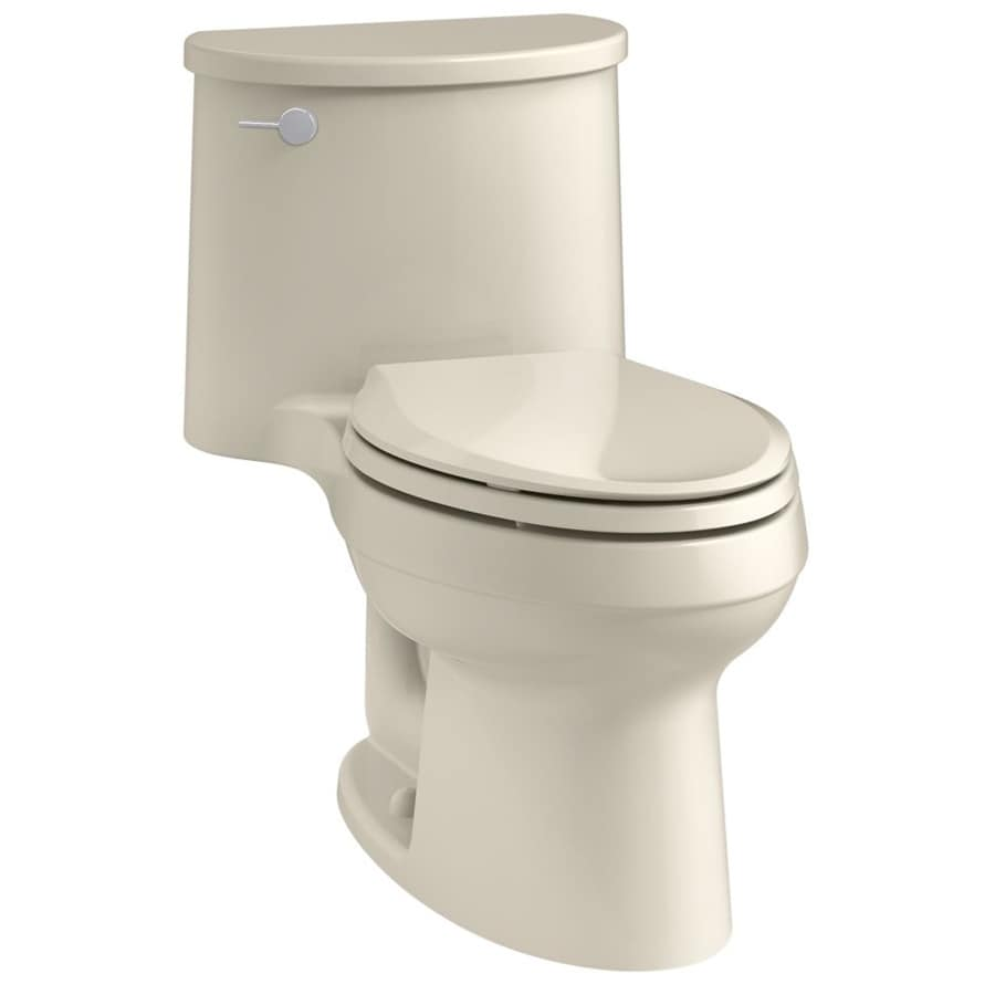 KOHLER Adair 1.28-GPF (4.85-LPF) Almond Elongated 1-piece Toilet