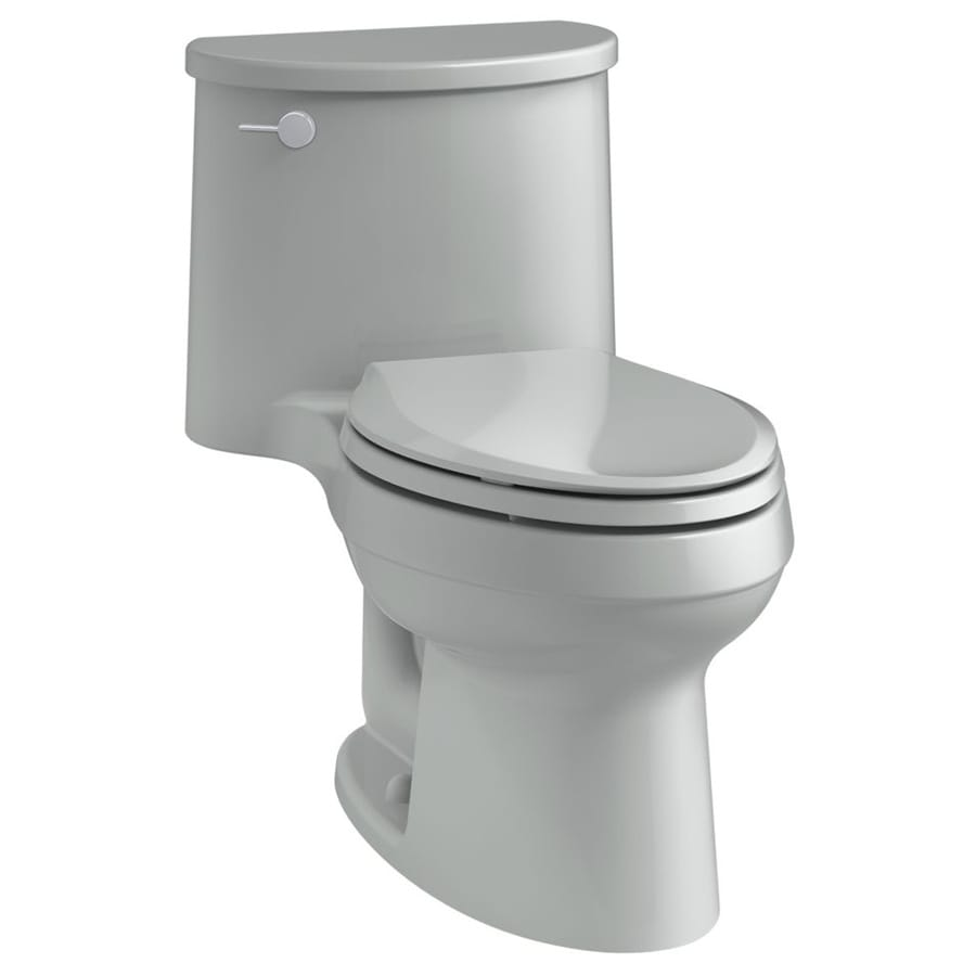 KOHLER Adair 1.28-GPF (4.85-LPF) Ice gray Elongated 1-piece Toilet