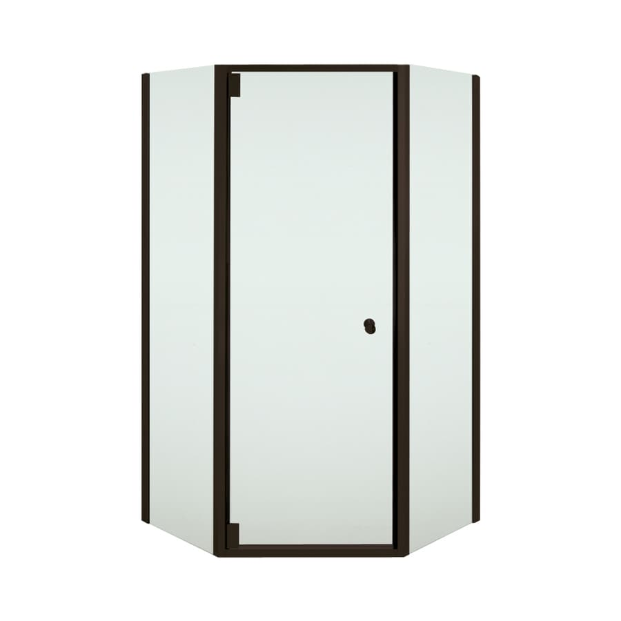 Sterling Solitaire 23.875-in to 29.4375-in W; to D Frameless Deep Bronze Hinged Shower Door